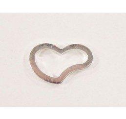 maglia cuore mm. 12x7 - ag 925 - conf 2 pz.