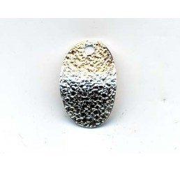 pendente satinato ovale - ag dorato -conf 6 pz