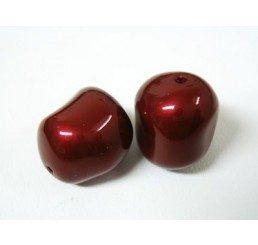 swarovski - perla irregolare mm. 12 bordeaux