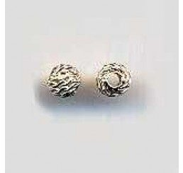 Pallina traforata in bronzo mm. 4 - Conf. 10 pz